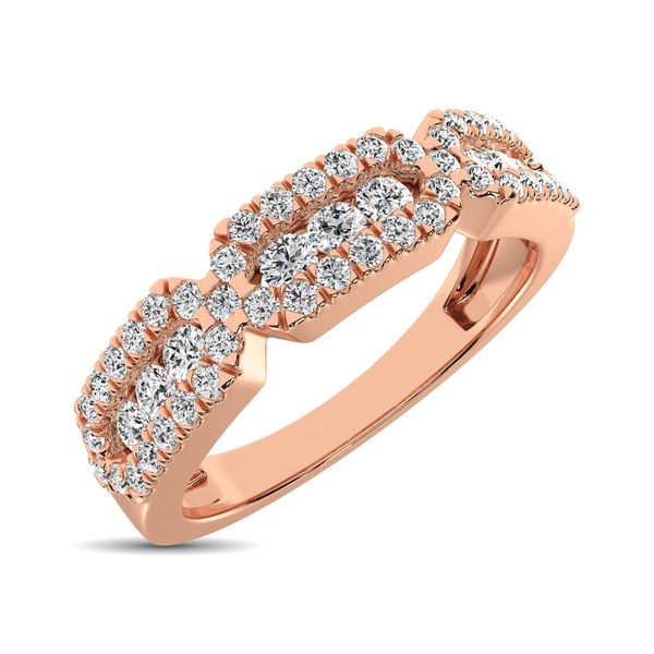 14K Rose Gold 1/2 Ct.Tw. Diamond Stackable Band Robert Irwin Jewelers Memphis, TN