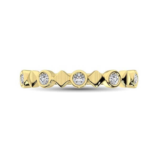 14K Yellow Gold 1/6 Ct.Tw. Diamond Bezel Set Stackable Band Image 2 Robert Irwin Jewelers Memphis, TN
