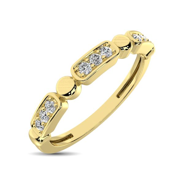 14K Yellow Gold 1/10 Ct.Tw. Diamond Stackable Band Robert Irwin Jewelers Memphis, TN