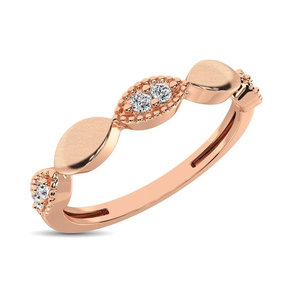 14K Rose Gold 1/10 Ct.Tw. Diamond Marquise Shape Stackable Band Robert Irwin Jewelers Memphis, TN
