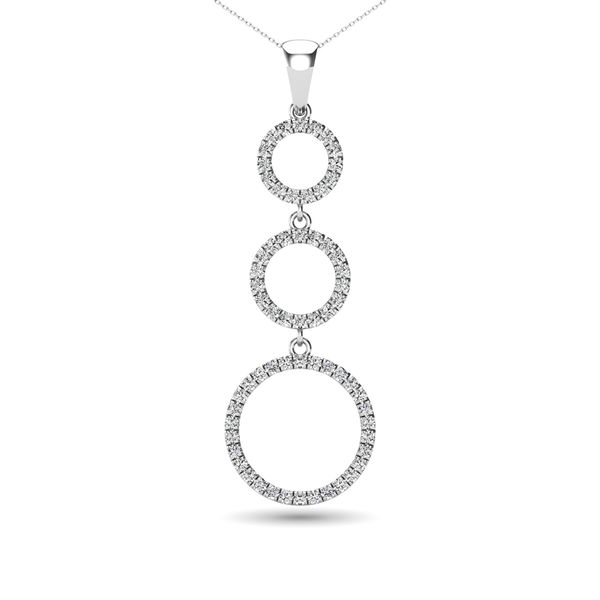 Diamond 1/4 Ct.Tw. Open Circles Pendant in 14K White Gold Robert Irwin Jewelers Memphis, TN