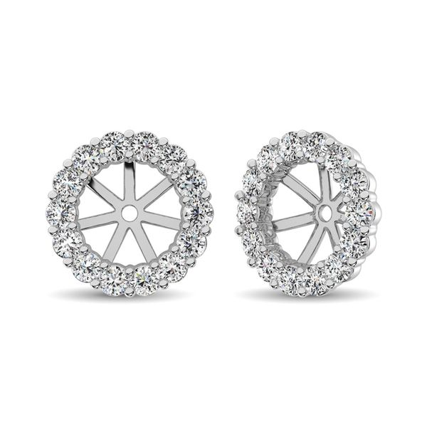 14K White Gold Diamond 2/5 Ct.Tw. Earrings Jacket Image 2 Robert Irwin Jewelers Memphis, TN