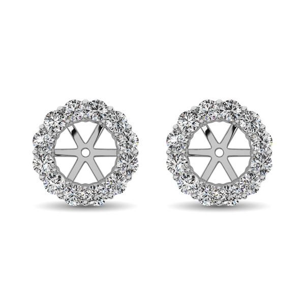 14K White Gold Diamond 3/4 Ct.Tw. Earrings Jacket Robert Irwin Jewelers Memphis, TN