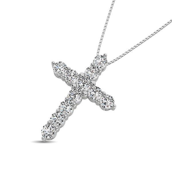 Diamond 1 1/8 Ct.Tw. Cross Pendant in 14K White Gold Image 2 Robert Irwin Jewelers Memphis, TN
