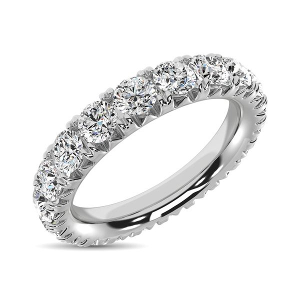 14K White Gold Diamond 3 Ct.Tw. 9 Stone Anniversary Band Robert Irwin Jewelers Memphis, TN