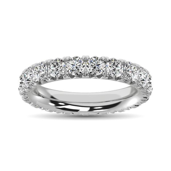 14K White Gold Diamond 3 Ct.Tw. 9 Stone Anniversary Band Image 2 Robert Irwin Jewelers Memphis, TN