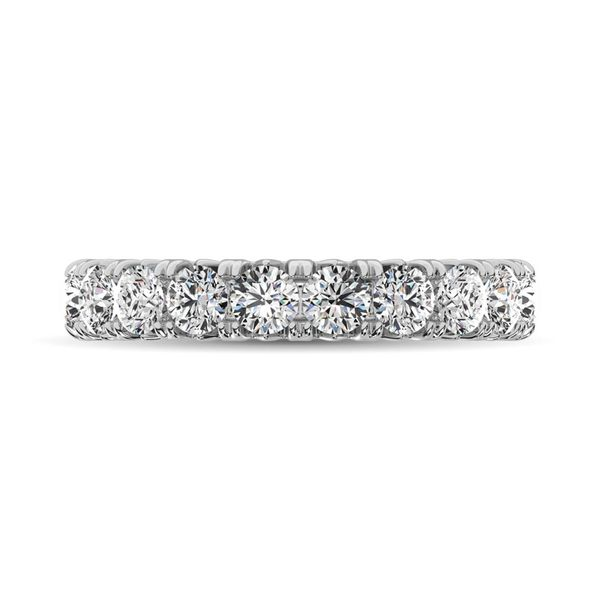 14K White Gold Diamond 3 Ct.Tw. 9 Stone Anniversary Band Image 3 Robert Irwin Jewelers Memphis, TN
