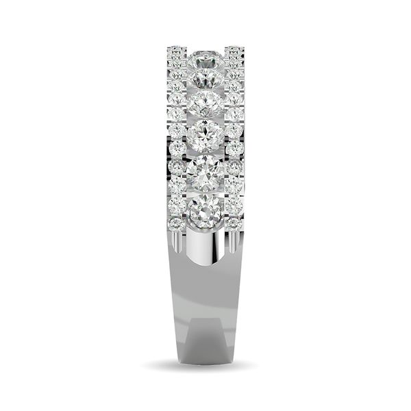 Diamond 1 ct tw Machine Band in 14K White Gold Image 3 Robert Irwin Jewelers Memphis, TN