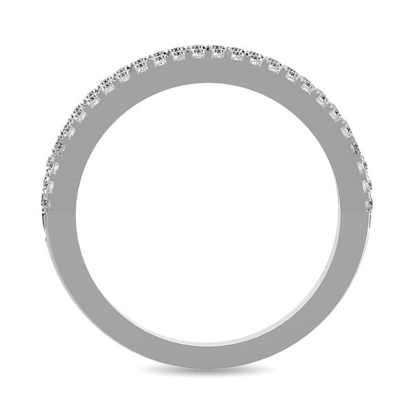 Diamond 1 ct tw Machine Band in 14K White Gold Image 4 Robert Irwin Jewelers Memphis, TN
