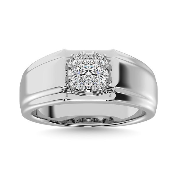 Diamond 1/2 Ct.Tw. Mens Fashion Ring Ring in 14K White Gold Image 2 Robert Irwin Jewelers Memphis, TN
