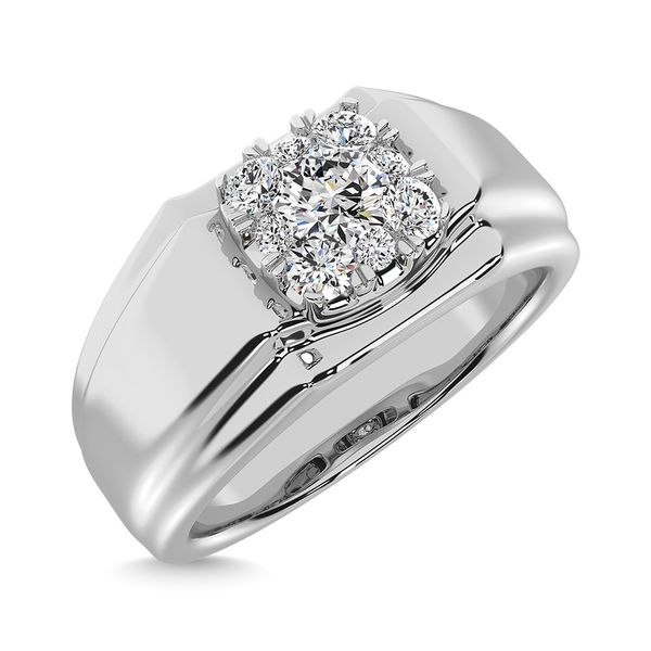 Diamond 1/2 Ct.Tw. Mens Fashion Ring Ring in 14K White Gold Image 3 Robert Irwin Jewelers Memphis, TN