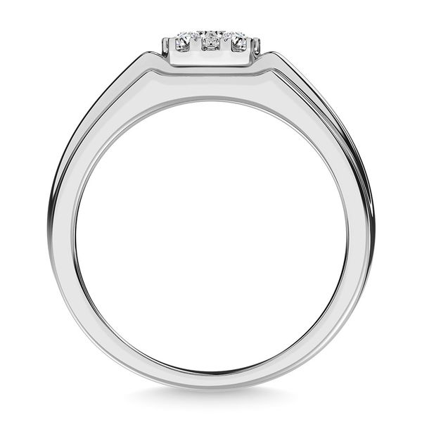 Diamond 1/2 Ct.Tw. Mens Fashion Ring Ring in 14K White Gold Image 4 Robert Irwin Jewelers Memphis, TN