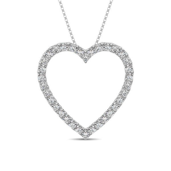 10K White Gold Diamond 1/2 Ct.Tw. Heart Pendant Robert Irwin Jewelers Memphis, TN