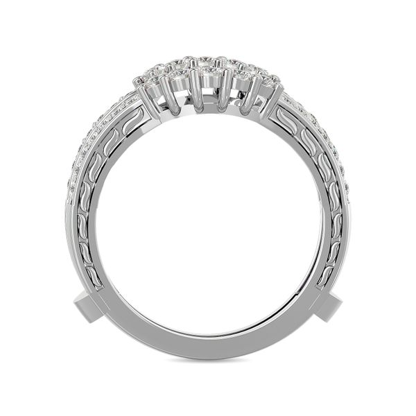 Diamond 1/2 ct tw Round Cut Guard Ring in 14K White Gold Image 4 Robert Irwin Jewelers Memphis, TN