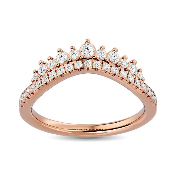 Diamond 1/3 ct tw Band in 14K Rose Gold Robert Irwin Jewelers Memphis, TN