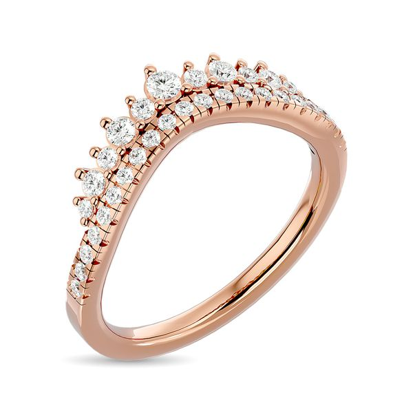 Diamond 1/3 ct tw Band in 14K Rose Gold Image 2 Robert Irwin Jewelers Memphis, TN