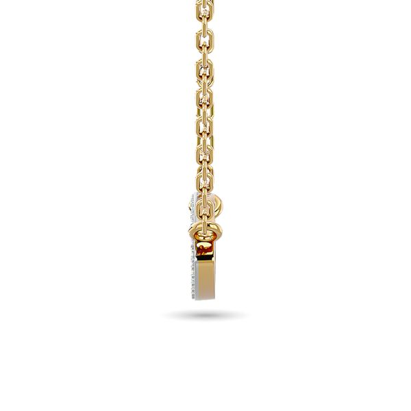 Diamond Eye Shape Necklace 1/5 ct tw in 10K Yellow Gold Image 3 Robert Irwin Jewelers Memphis, TN