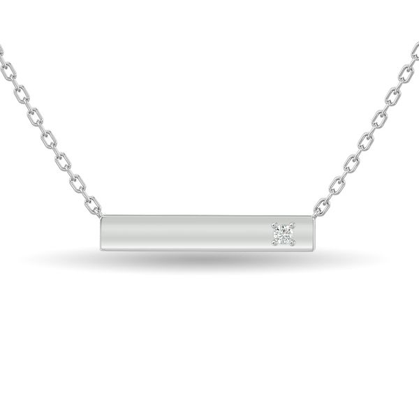 Diamond Bar Necklace 1/20 ct tw in Sterling Silver Robert Irwin Jewelers Memphis, TN