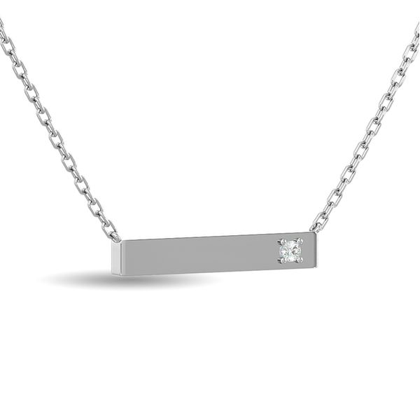 Diamond Bar Necklace 1/20 ct tw in Sterling Silver Image 2 Robert Irwin Jewelers Memphis, TN