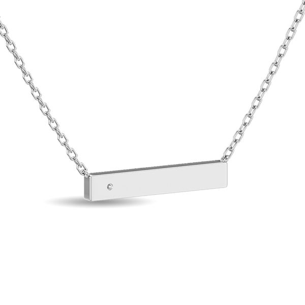 Diamond Bar Necklace 1/20 ct tw in Sterling Silver Image 4 Robert Irwin Jewelers Memphis, TN
