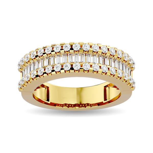Diamond 1 ct tw Round and Tapper Fashion Ring in 10K Yellow Gold Robert Irwin Jewelers Memphis, TN