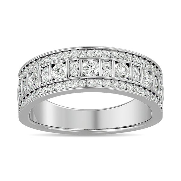 Diamond 7/8 ct tw Fashion Band in 10K White Gold Robert Irwin Jewelers Memphis, TN