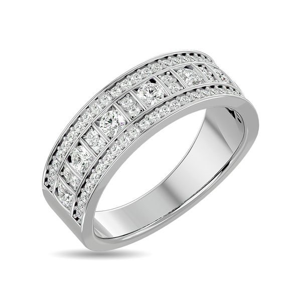 Diamond 7/8 ct tw Fashion Band in 10K White Gold Image 2 Robert Irwin Jewelers Memphis, TN