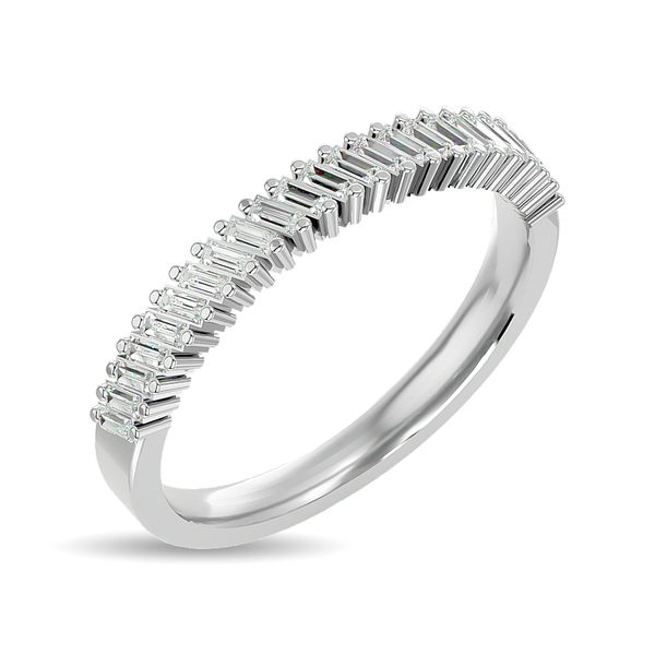 Diamond Ladies Band 1/4 ct tw in 14K White Gold Image 2 Robert Irwin Jewelers Memphis, TN