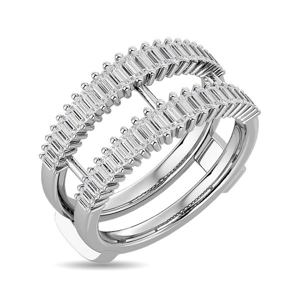 Diamond Guard Ring 5/8 ct tw in 14K White Gold Image 2 Robert Irwin Jewelers Memphis, TN