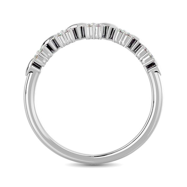 Diamond 1/10 ct tw Heart Stackable Ring in 10K White Gold Image 4 Robert Irwin Jewelers Memphis, TN