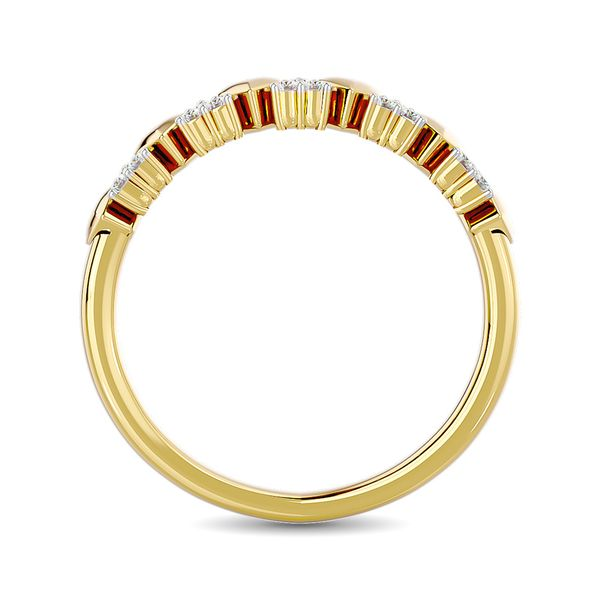 Diamond 1/10 ct tw Heart Stackable Ring in 10K Yellow Gold Image 4 Robert Irwin Jewelers Memphis, TN