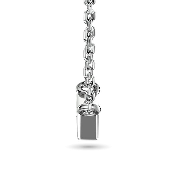 Diamond Round Cut Fashion Necklace 1/4 ct tw in 10K White Gold Image 3 Robert Irwin Jewelers Memphis, TN