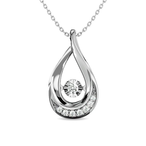 Diamond 1/10 ct tw Fashion Pendant in 10K White Gold Robert Irwin Jewelers Memphis, TN
