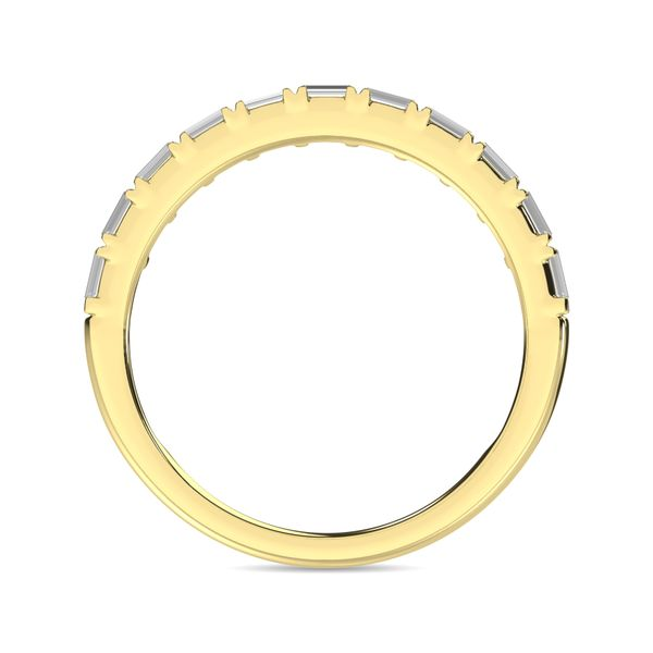 Diamond Anniversary Ring 1/50 ct tw in 14K Yellow Gold Image 4 Robert Irwin Jewelers Memphis, TN