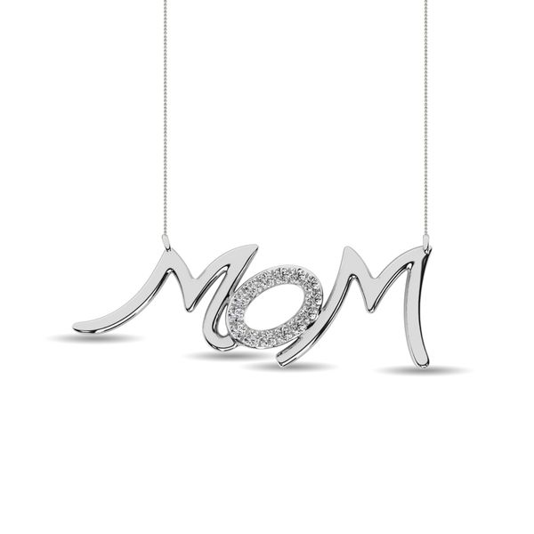 Diamond 1/20 ct tw Mom Necklace in Sterling Silver Robert Irwin Jewelers Memphis, TN