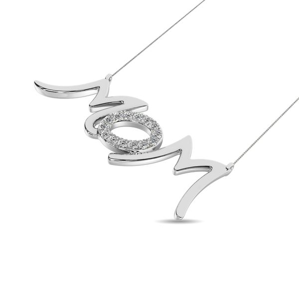 Diamond 1/20 ct tw Mom Necklace in Sterling Silver Image 2 Robert Irwin Jewelers Memphis, TN