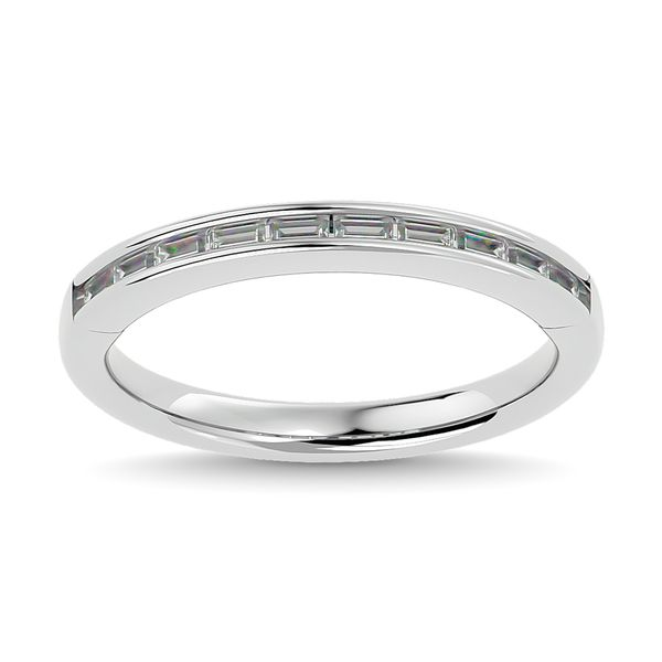 Diamond 1/3 ct tw Channel Set Straight Baguette Ladies Band in 14K White Gold Robert Irwin Jewelers Memphis, TN