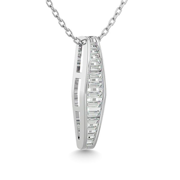 Diamond 1/3 ct tw Fashion Pendant in 14K White Gold Image 2 Robert Irwin Jewelers Memphis, TN