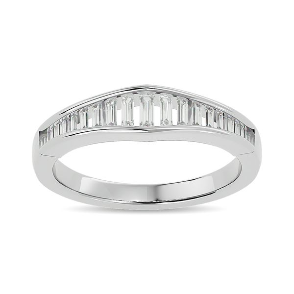 Diamond 3/8 ct tw Band Ring in 14K White Gold Robert Irwin Jewelers Memphis, TN
