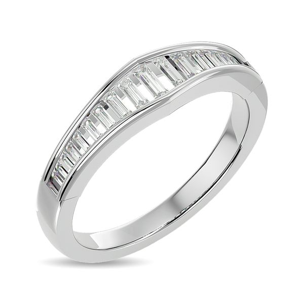 Diamond 3/8 ct tw Band Ring in 14K White Gold Image 2 Robert Irwin Jewelers Memphis, TN