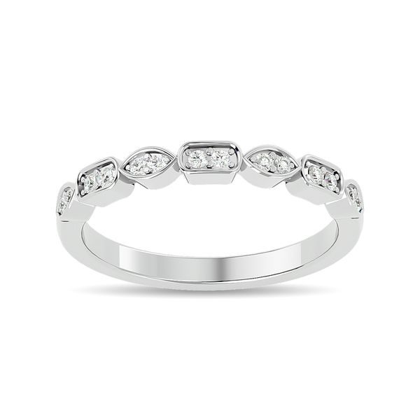 Diamond 1/8 ct tw Stackable Ring in 14K White Gold Robert Irwin Jewelers Memphis, TN