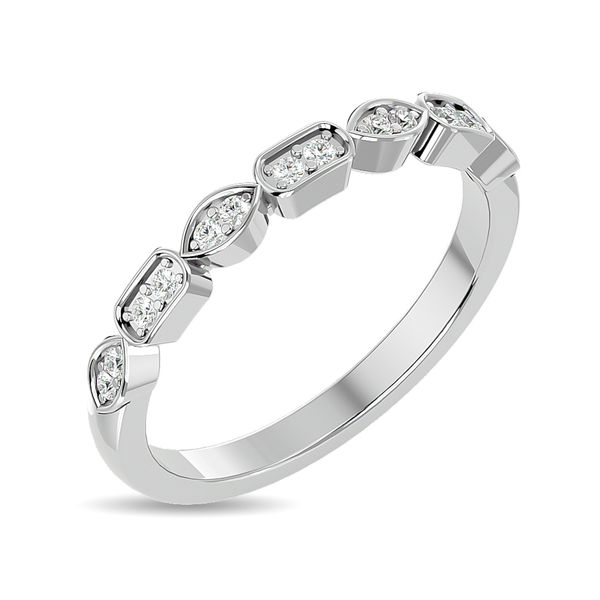 Diamond 1/8 ct tw Stackable Ring in 14K White Gold Image 2 Robert Irwin Jewelers Memphis, TN