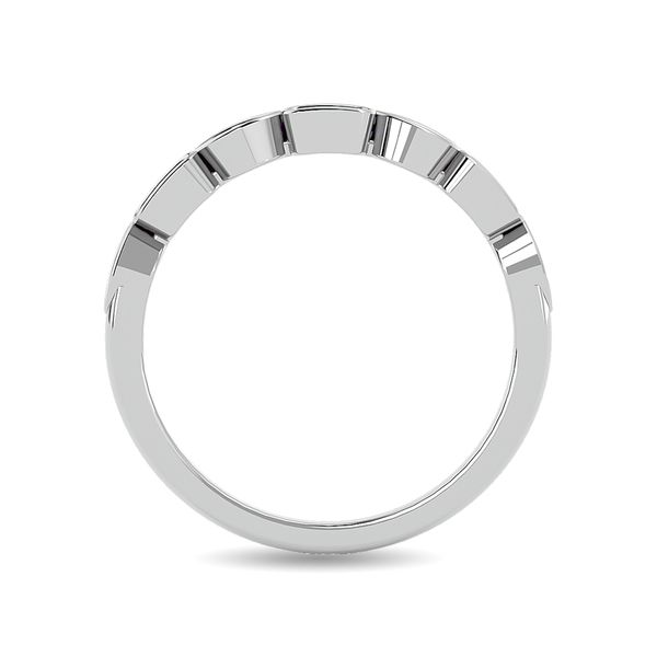 Diamond 1/8 ct tw Stackable Ring in 14K White Gold Image 4 Robert Irwin Jewelers Memphis, TN