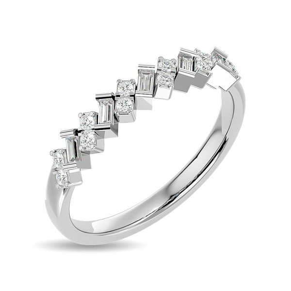 Diamond 1/5 ct tw Stackable Ring in 14K White Gold Image 2 Robert Irwin Jewelers Memphis, TN