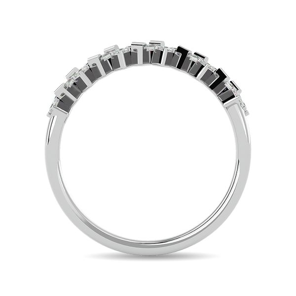 Diamond 1/5 ct tw Stackable Ring in 14K White Gold Image 4 Robert Irwin Jewelers Memphis, TN