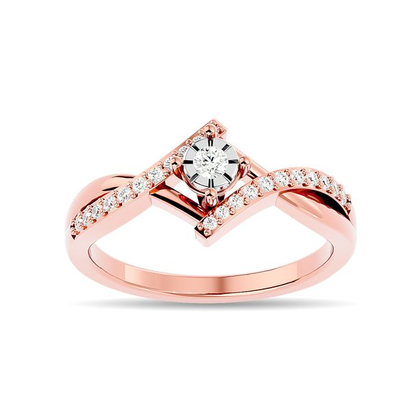 Diamond 1/5 ct tw Promise Ring in 10K Rose Gold Robert Irwin Jewelers Memphis, TN