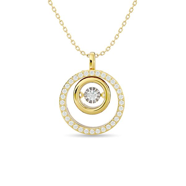 Diamond 1/4 ct tw Fashion Pendant in 14K Yellow Gold Robert Irwin Jewelers Memphis, TN