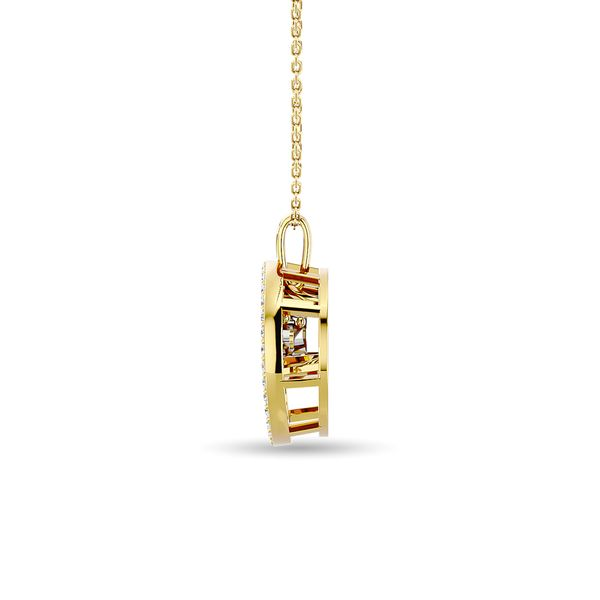 Diamond 1/4 ct tw Fashion Pendant in 14K Yellow Gold Image 3 Robert Irwin Jewelers Memphis, TN