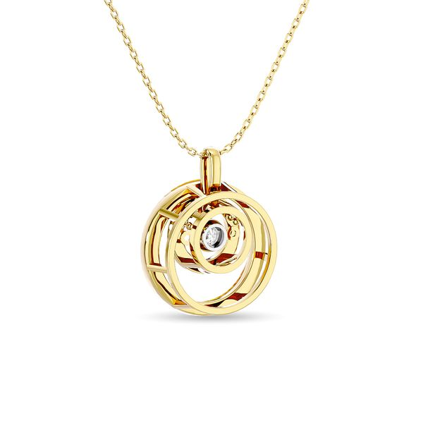 Diamond 1/4 ct tw Fashion Pendant in 14K Yellow Gold Image 4 Robert Irwin Jewelers Memphis, TN
