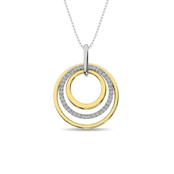 Diamond 1/5 ct tw Fashion Pendant in 14K Two Tone Gold Robert Irwin Jewelers Memphis, TN